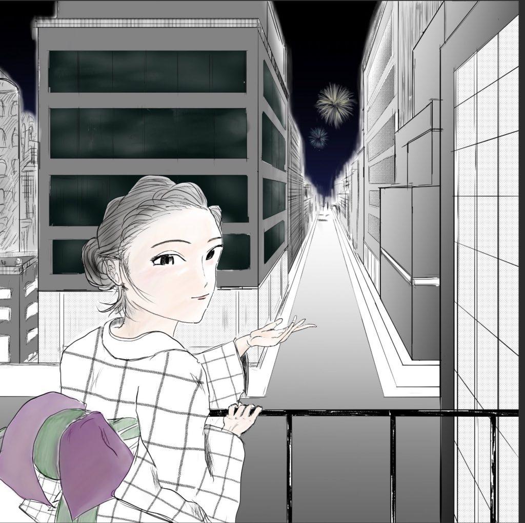 ここ、穴場なんですよ(fuku 様)・オンライン夏祭り2020のイラスト