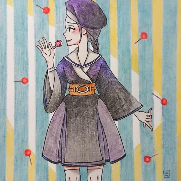 ラズベリージャム(茉莉花)・イラスト文化祭2020