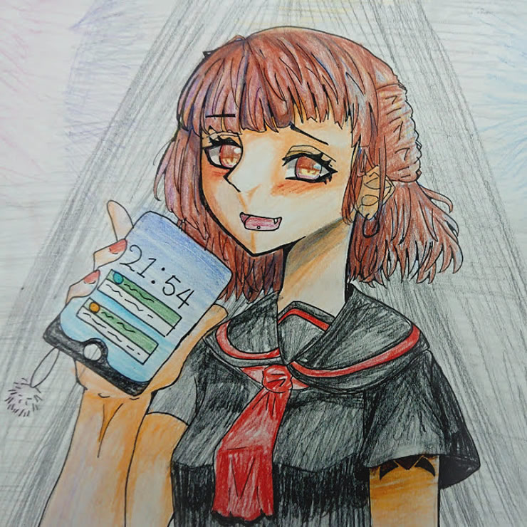 不良少女(お酢)・イラスト文化祭2020