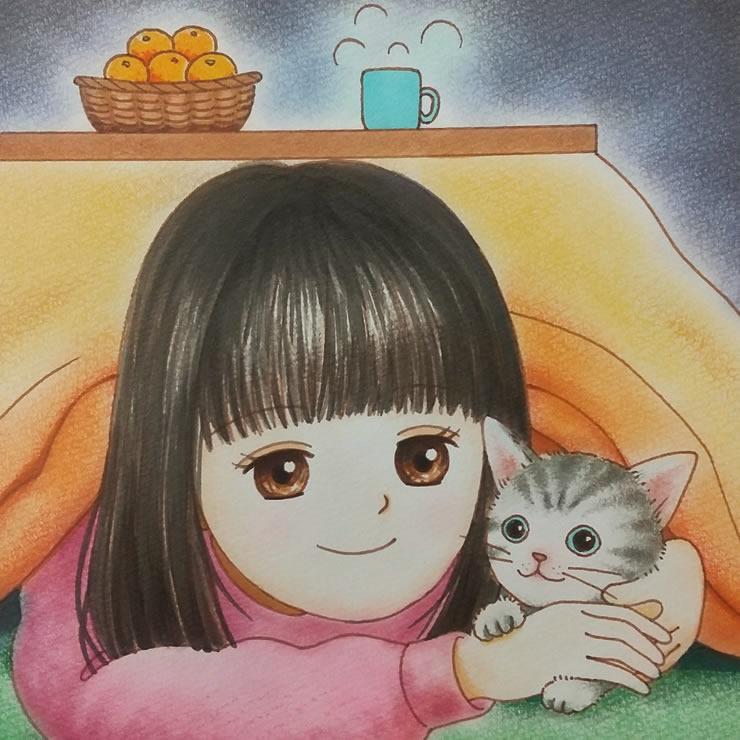 ご出産おめでとうございます(くみねこ)・埼玉マンガカップのイラスト2021