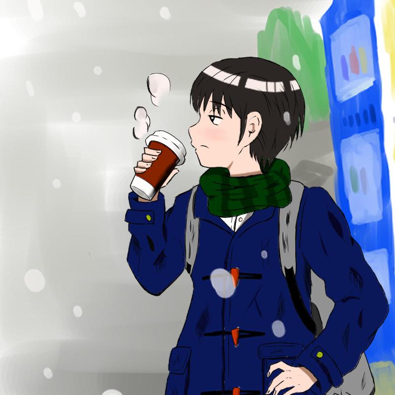ちょっと暖まっていこう(寺野サウルス)・埼玉マンガカップのイラスト2021