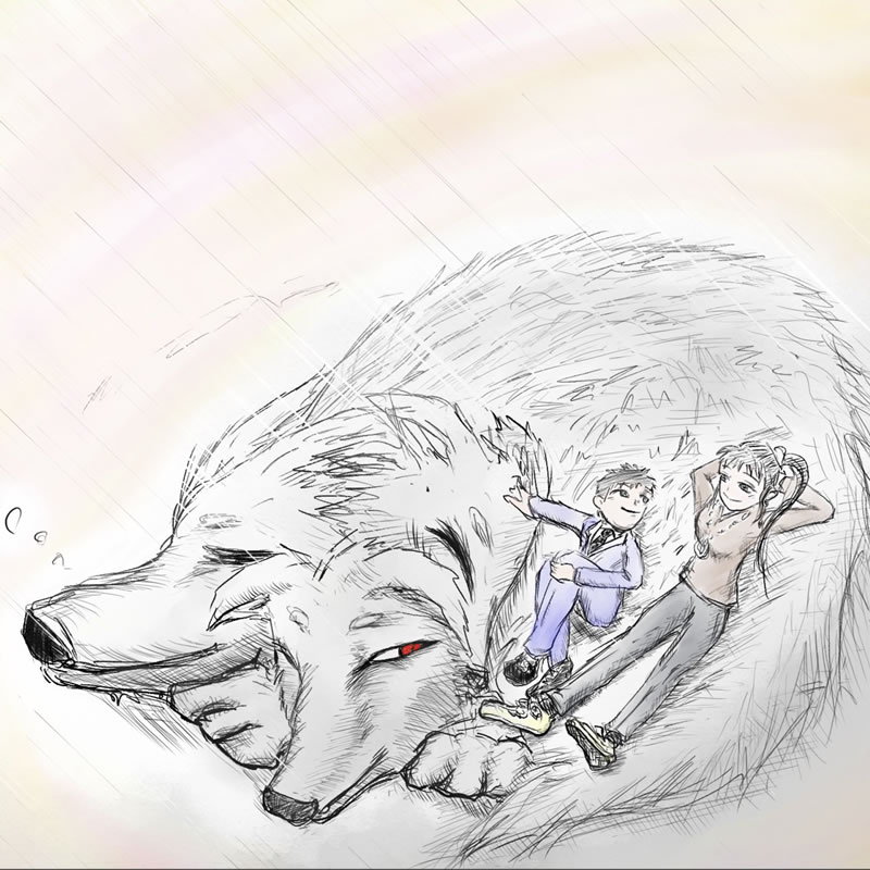 ケルベロスと昼寝(fuku)・埼玉マンガカップのイラスト2021