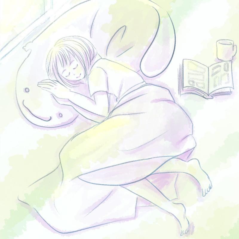 心ゆくまでお眠り。(しろ)・埼玉マンガカップのイラスト2021