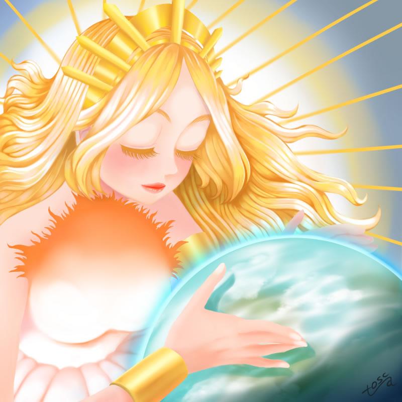 太陽がはじめて地球を愛した日(トスカ)・埼玉マンガカップ(めばえ)のイラスト2021