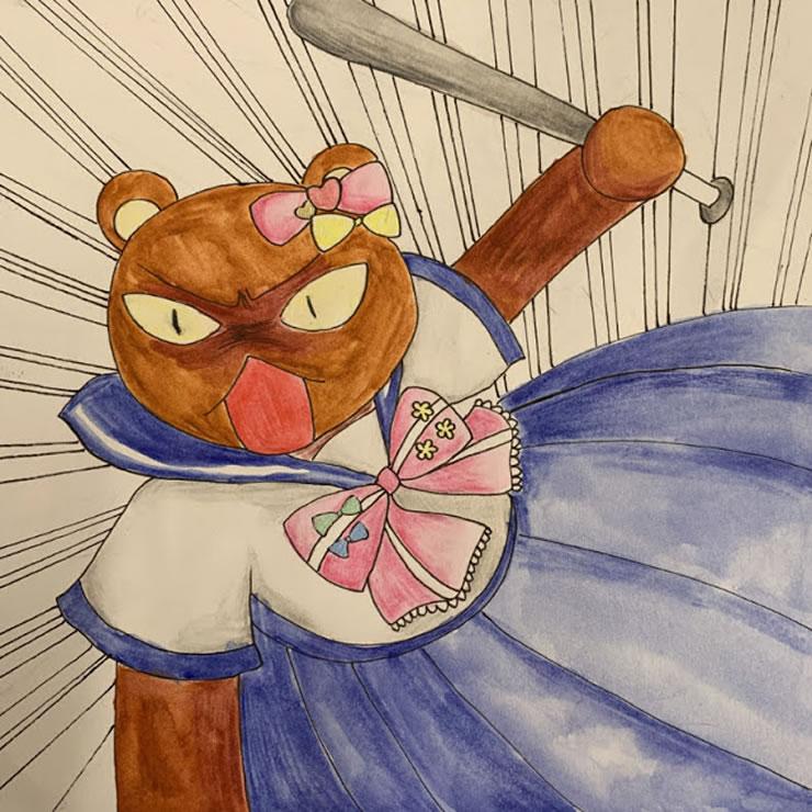 闘う女たち(加地舞香)・イラスト文化祭2020