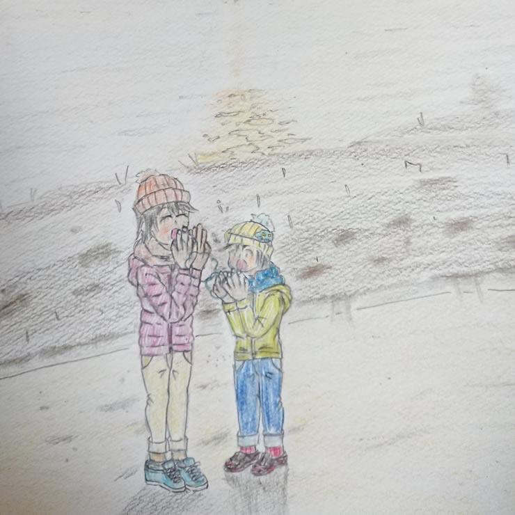 冬の夕暮れ(のも)・埼玉マンガカップのイラスト2021