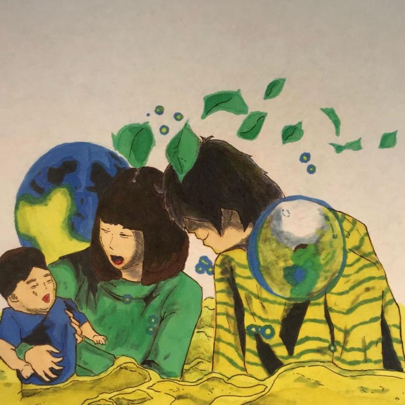 こんな家族に、、(モキチサブ垢)・埼玉マンガカップのイラスト2021