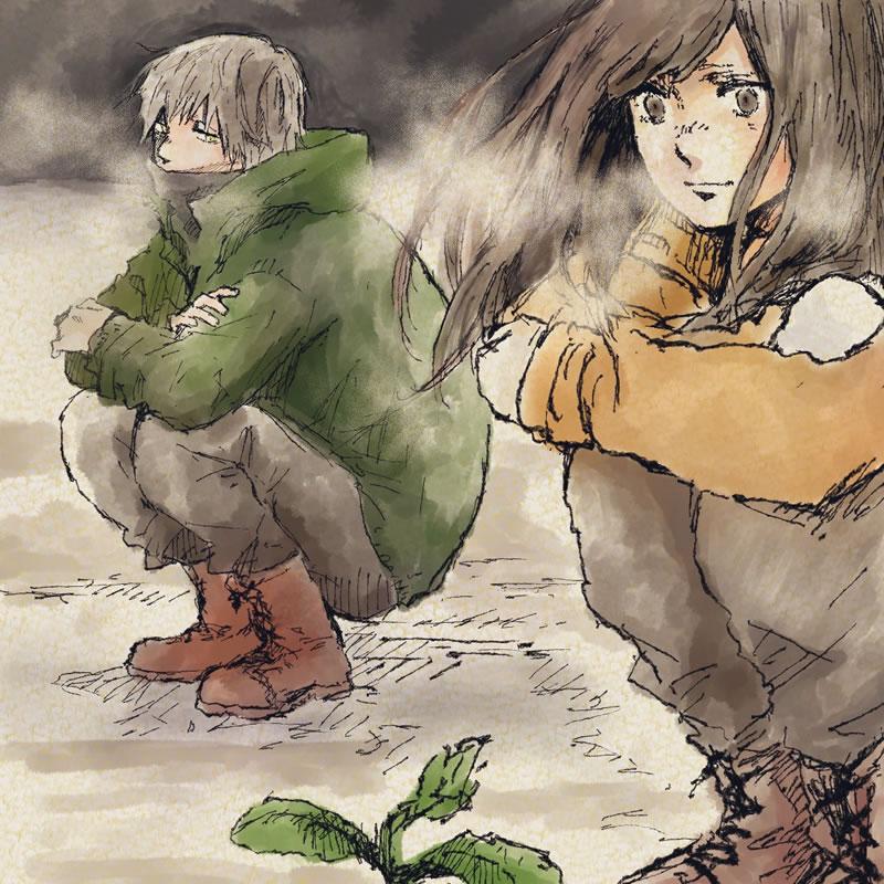 冬の終わり(山本棗)・埼玉マンガカップ(めばえ)のイラスト2021