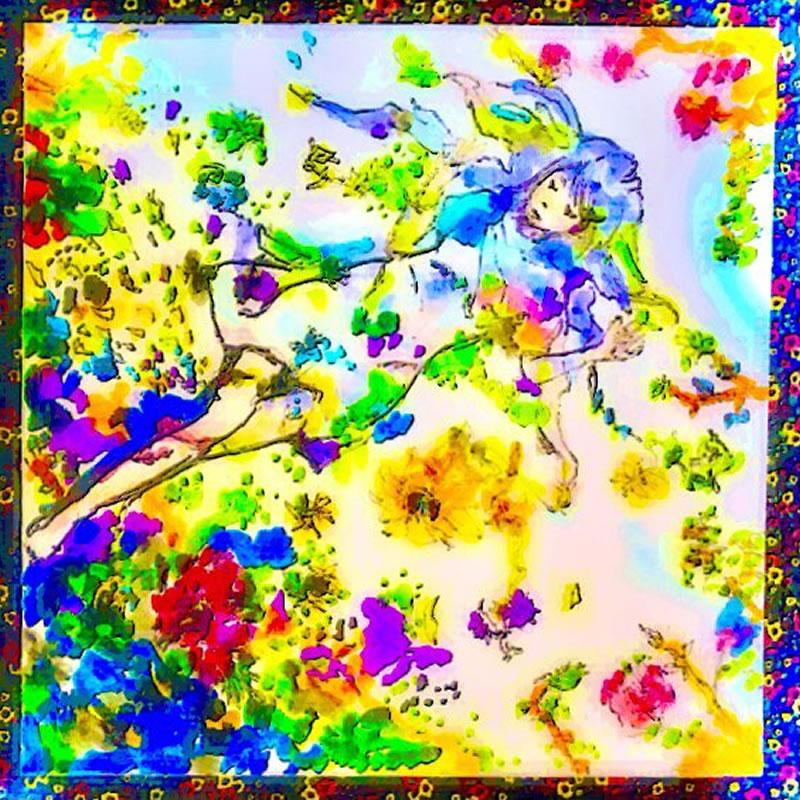 I feel bloom(竹下かえる)・埼玉マンガカップ(めばえ)のイラスト2021