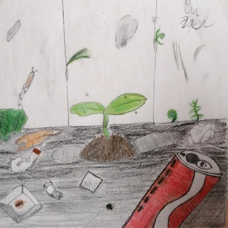 ゴミニモマケズ(ヨッシー)・埼玉マンガカップ(めばえ)のイラスト2021