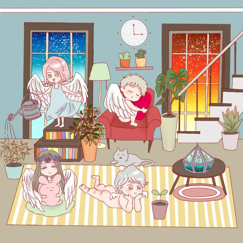 天使のいる部屋(すた)・埼玉マンガカップ(めばえ)のイラスト2021