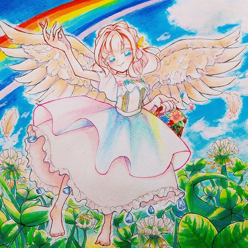 天使のめばえ(やの。)・埼玉マンガカップ(めばえ)のイラスト2021