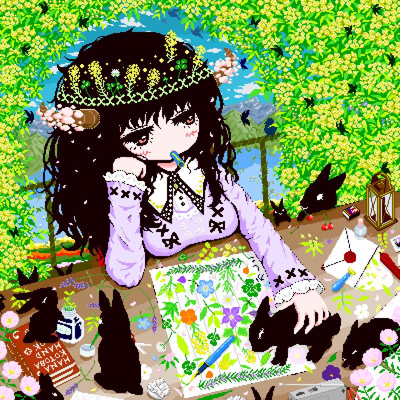 根葉もなく浮かぶ言の葉もえぎ色(考遥)・埼玉マンガカップ(めばえ)のイラスト2021